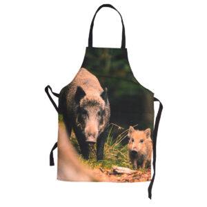 Schürze Wildschwein-Motiv im Pareyshop