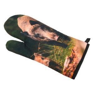 Ofenhandschuh Wildschwein-Motiv im Pareyshop