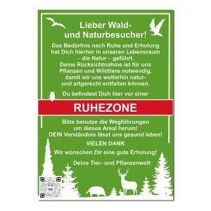 Schild Ruhezone mit QR-Code im Pareyshop