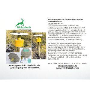 Wildlutscher Befestigungsset Pfahlanbringung für Lecksteine im Pareyshop