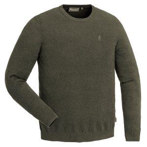 Pinewood Herren-Sweater Värnamo Grün Meliert im Pareyshop