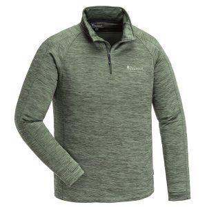 Pinewood Abisko Midlayer Half Zip Unterhemd Dunkelgrün-Meliert im Pareyshop