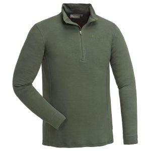 Pinewood Abisko Merino Base Layer Unterhemd Half Zip Moosgrün im Pareyshop
