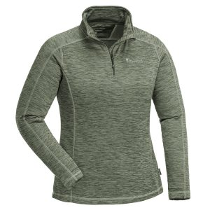Pinewood Abisko Midlayer Half Zip Damen-Unterhemd Dunkelgrün-Meliert im Pareyshop