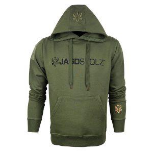 Jagdstolz Herren-Hoodie Oliv Logo '21 Black im Pareyshop