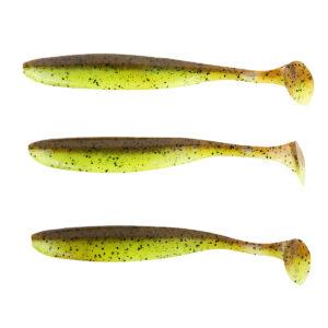 "Keitech Easy Shiner Green-Pumpkin-Chartreuse 5"" 12"