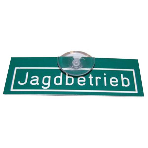 """Autoschild """"Jagdbetrieb"""" mit Saugnapf im Pareyshop"""