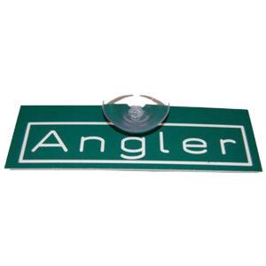 """Autoschild """"Angler"""" mit Saugnapf im Pareyshop"""