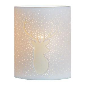 Porzellan Lampe mit Hirschmotiv im Pareyshop